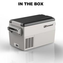 Kenner 35L Stainless Steel Portable Fridge Freezer Cooler  [C-BCD35-GRAY]