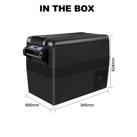 Kenner 45L Black Portable Freezer Fridge Cooler [C-BCD45-BLACK]