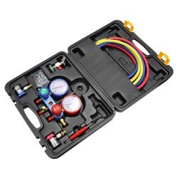 CM Air Manifold Gauge Tool Set Suitable for R22, R134A, R404A [G-R134A]
