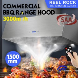 ReelRock 150cm x 60cm Alfresco BBQ Canopy Rangehood [H-EKD-1500-W3]