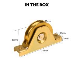 Kenner Sliding Gate Hardware - U Groove 90mm Internal Wheel [HD1U90]