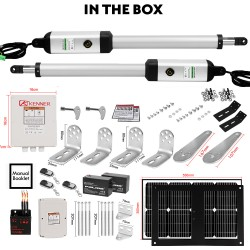 Kenner 20W Full Solar Double Actuator Automatic Swing Gate Opener [KNL100E-02-20N7]
