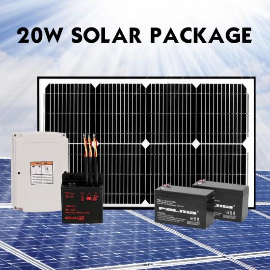 Kenner 20W Full Solar Single Actuator Automatic Swing Gate Opener [KNL200E-01-20N7]