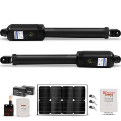 Kenner 20W Full Solar Double Actuator Automatic Swing Gate Opener [KNL200E-02-20N7]