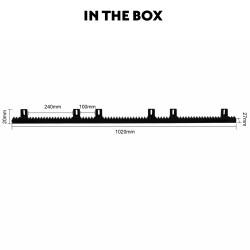 1m Nylon Rack for Kenner Sliding Gate Opener [KNN02]