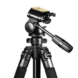 Kenner 1.73m Camera Tripod with Fluid 3-Way Pan Head [KT-6663A]