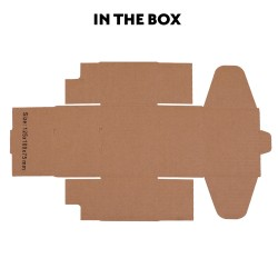 50 pcs Mailing Box Carton 125x100x75mm for Australia POST 500g  [PAC-B-125100075W-50]