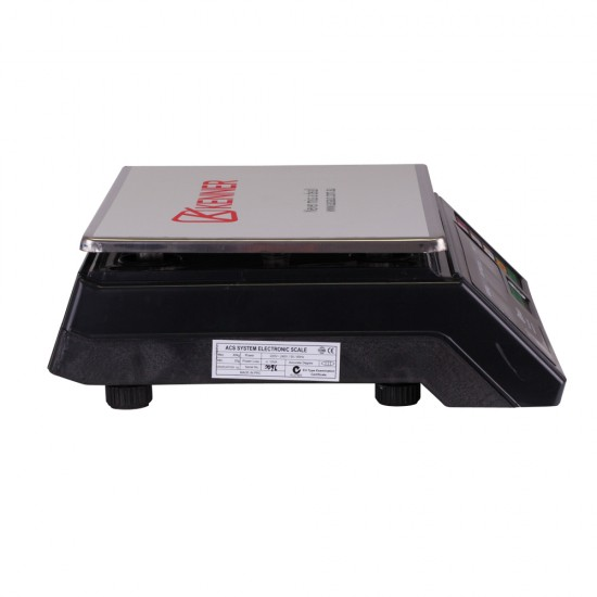 Kenner 40KG Black Digital Kitchen Scale with LCD Screen [T-ACS-468-BLCD-40]