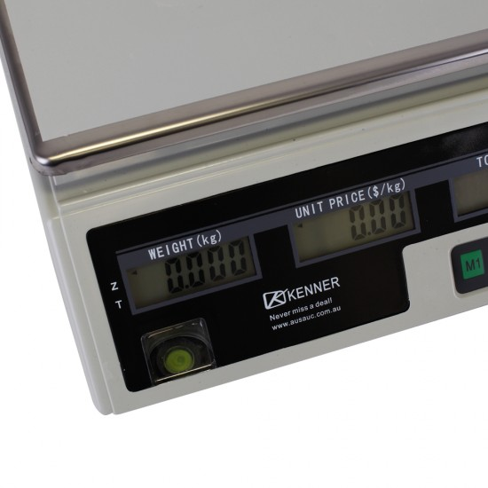 Kenner 40KG White Digital Kitchen Scale with LCD Screen [T-ACS-468-WLCD-40]