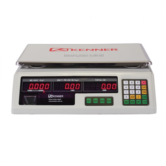 Kenner 40KG White Digital Kitchen Scale with LED Screen [T-ACS-468-WLED-40]