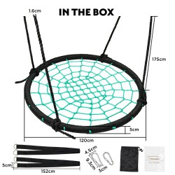 Tickly-Toe 120cm Spidey Web Swing Set [TT-SA-029-120]
